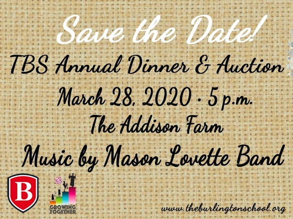 dinner and auction save the date for March 28