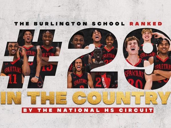 TBS boys basketball ranked #29 graphic
