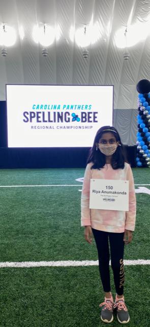 Riya Anumakonda at the Regional Spelling Bee in Charlotte