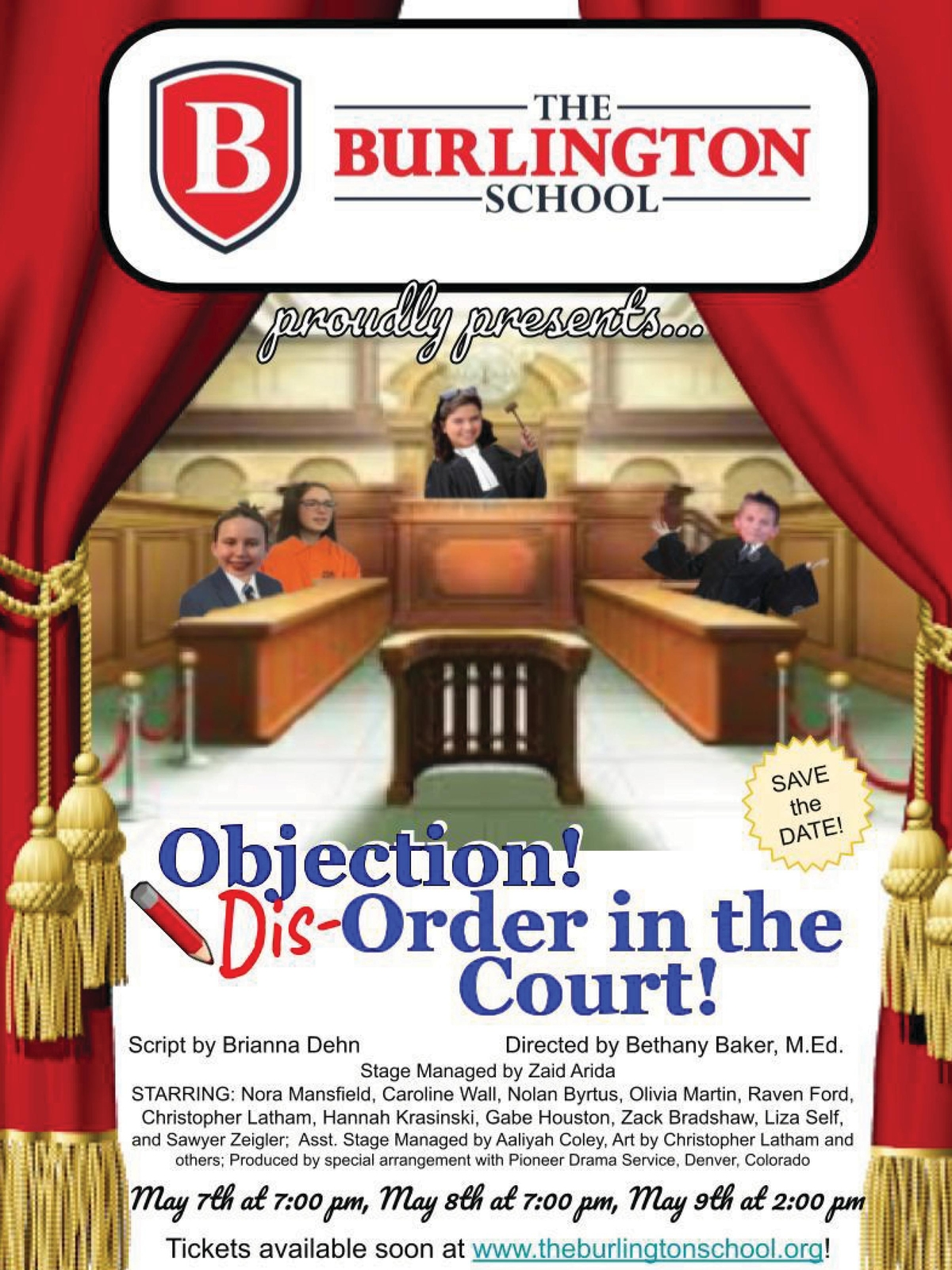 Promotional poster for Objection! Disorder in the Court