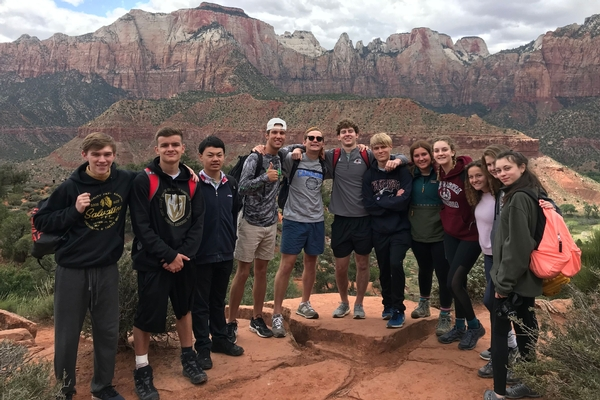 Students visit Zion National Park in Utah