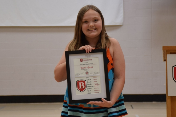 Lower School Heart Award recipient