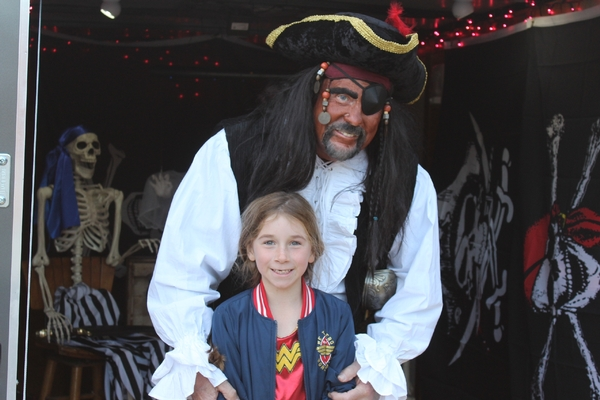 student with a pirate