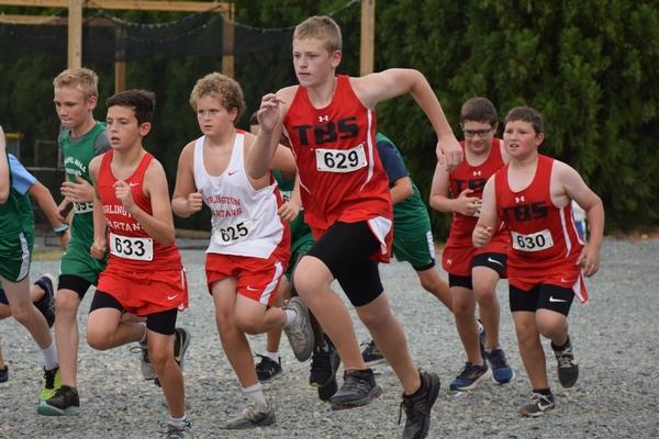 Middle School boys cross country race start