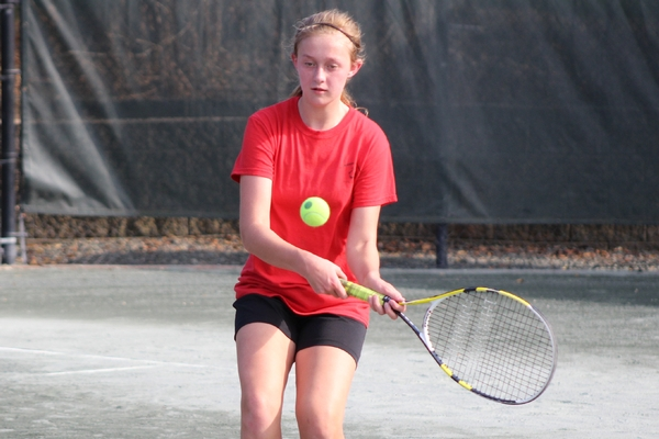 Middle School fall tennis action