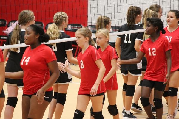 Middle School volleyball handshake