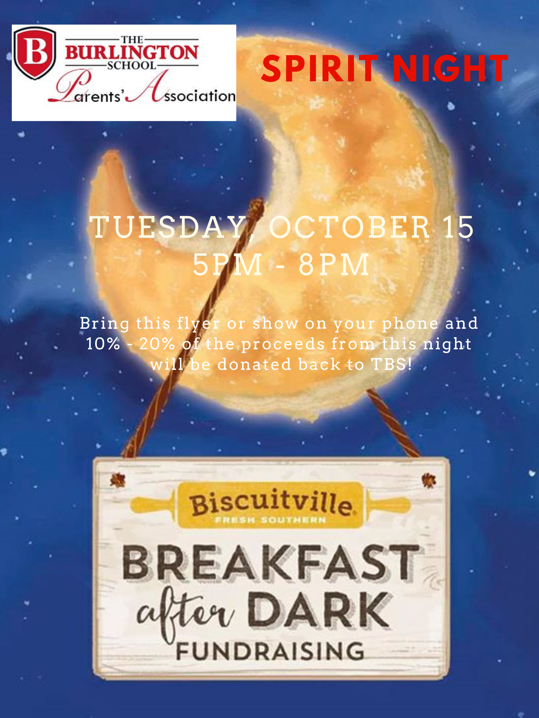 biscuitville spirit night