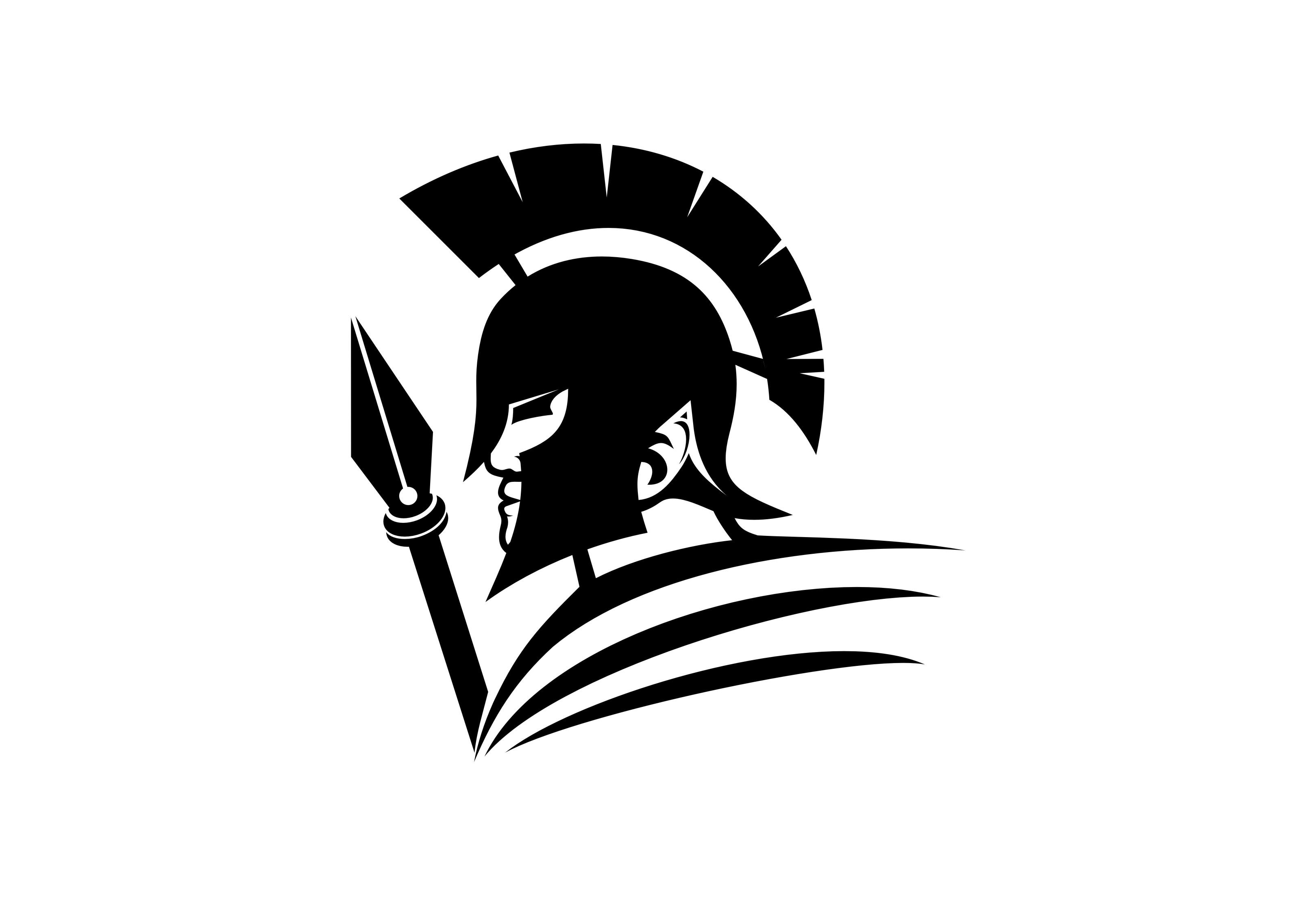Spartan logo black