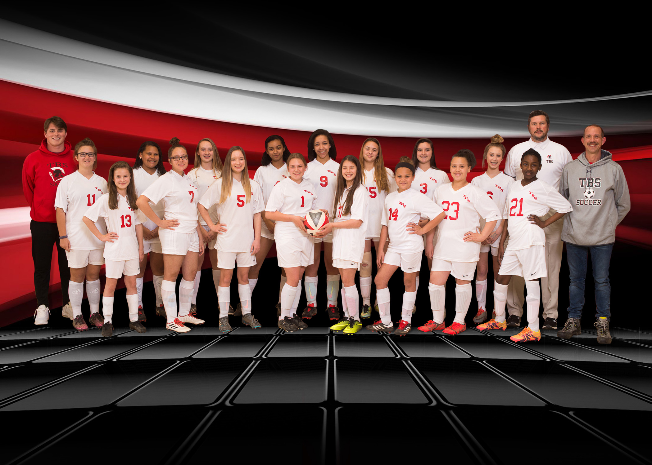 Middle School girls soccer team