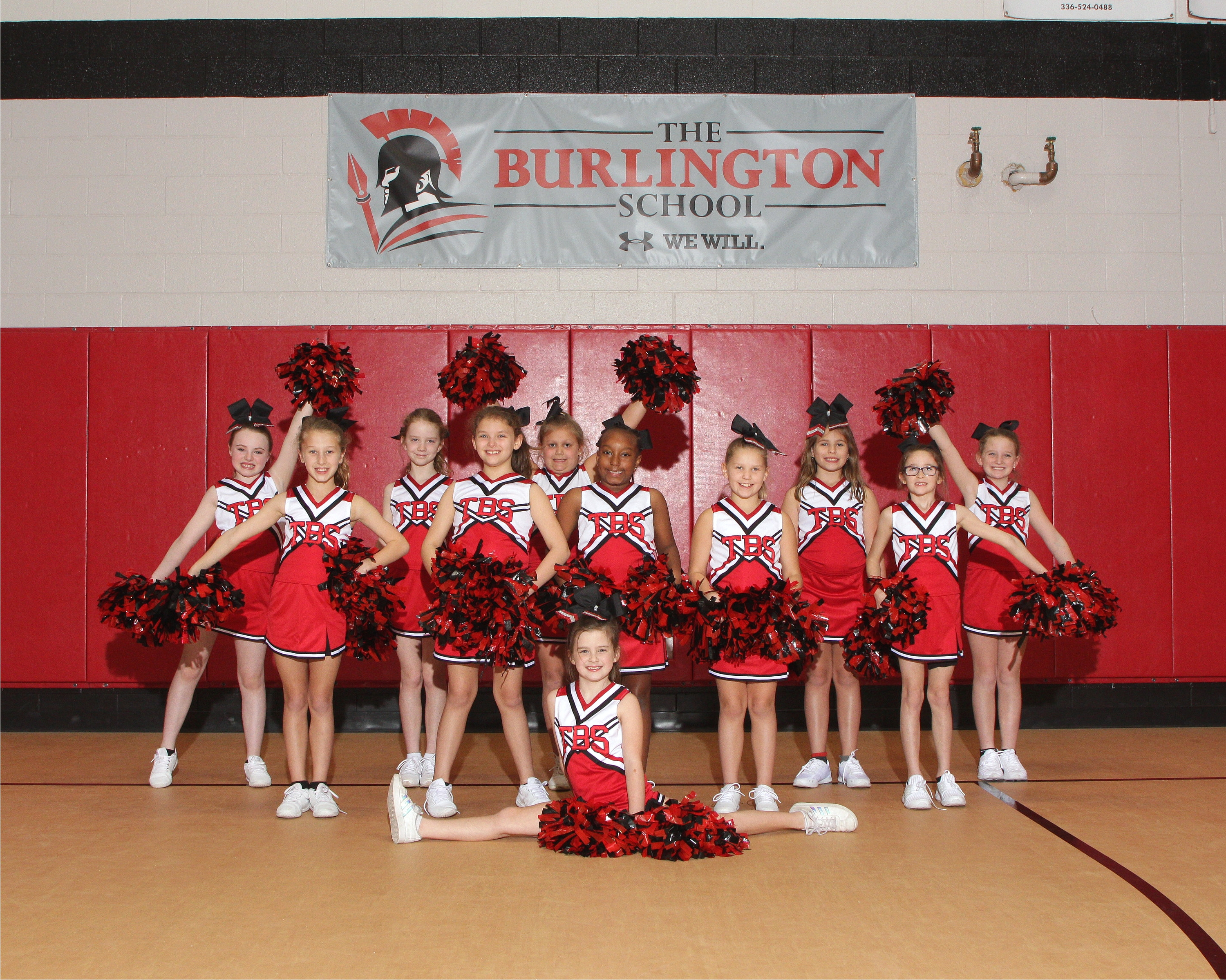 2019-20 middle school cheer team