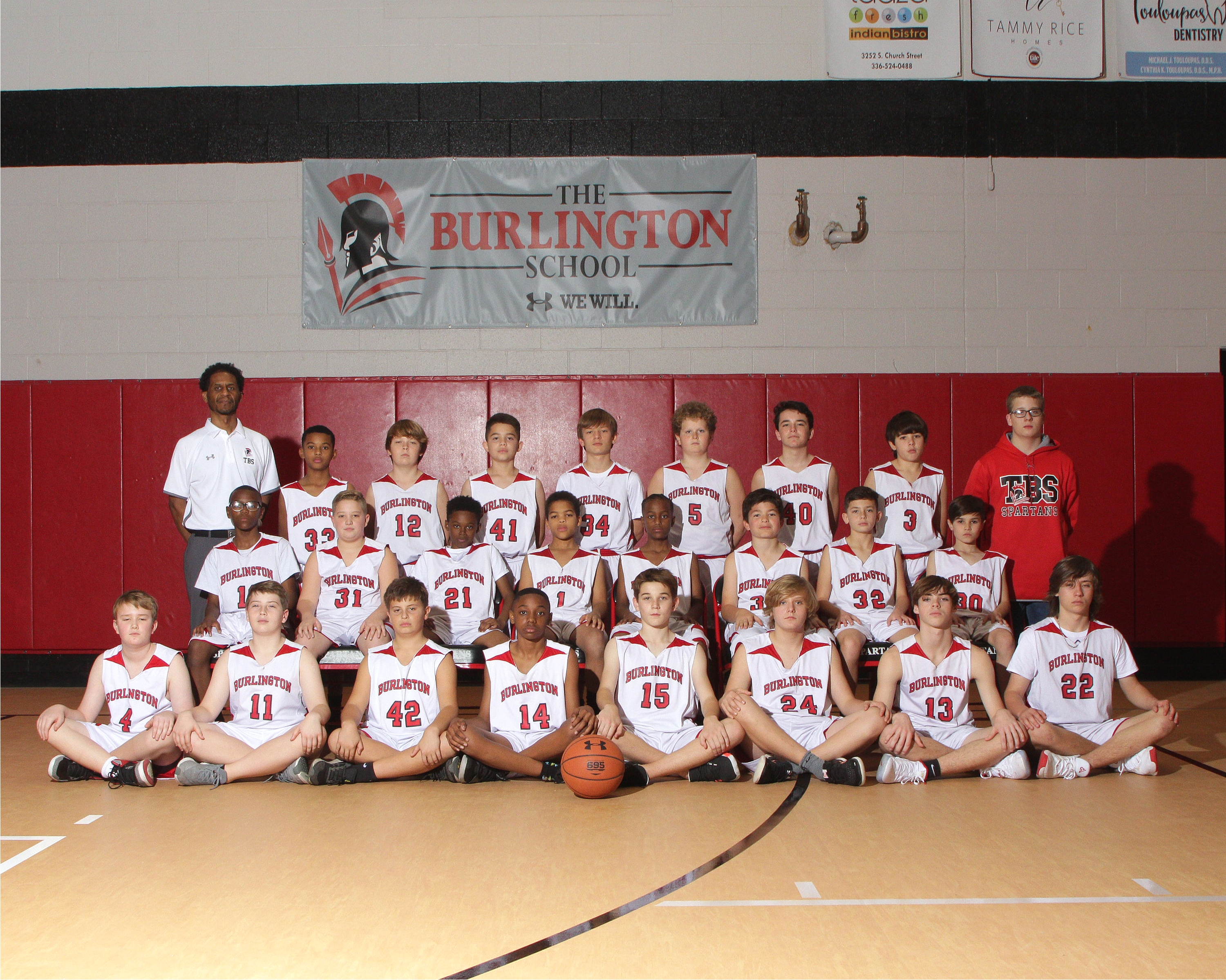 2019-20 middle school boys basketball team