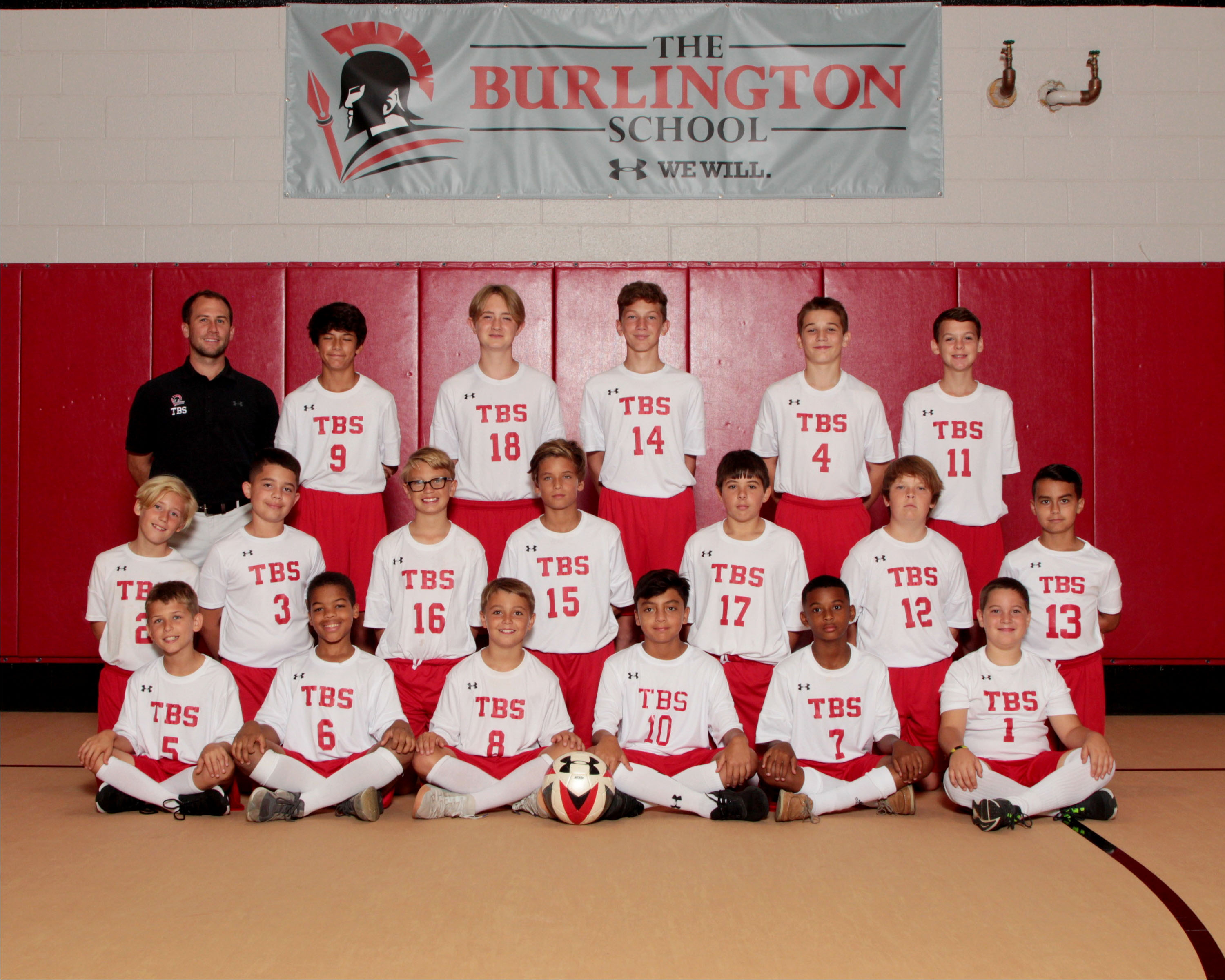 2019 Middle School boys soccer team