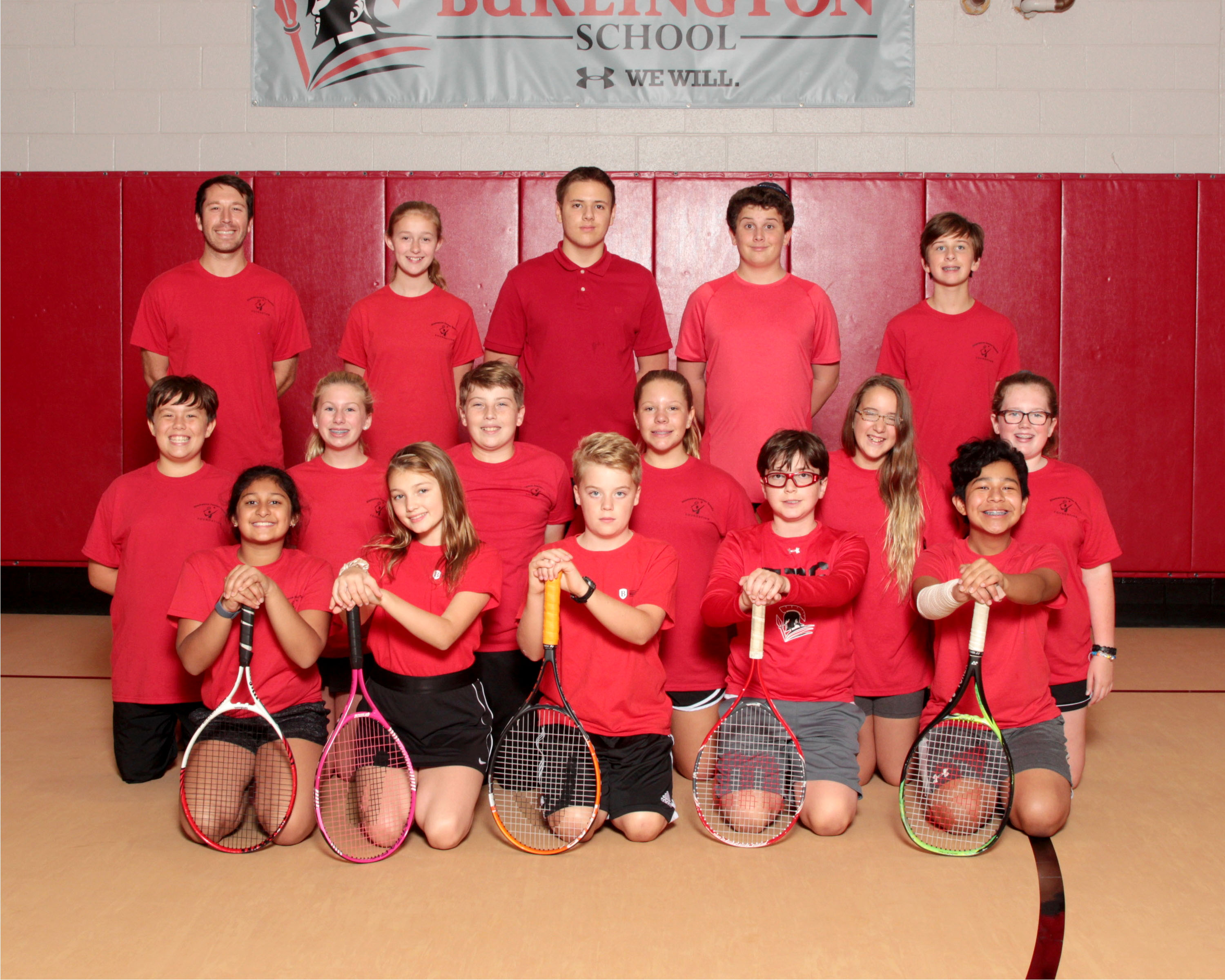 2019 Middle School Fall Tennis Team