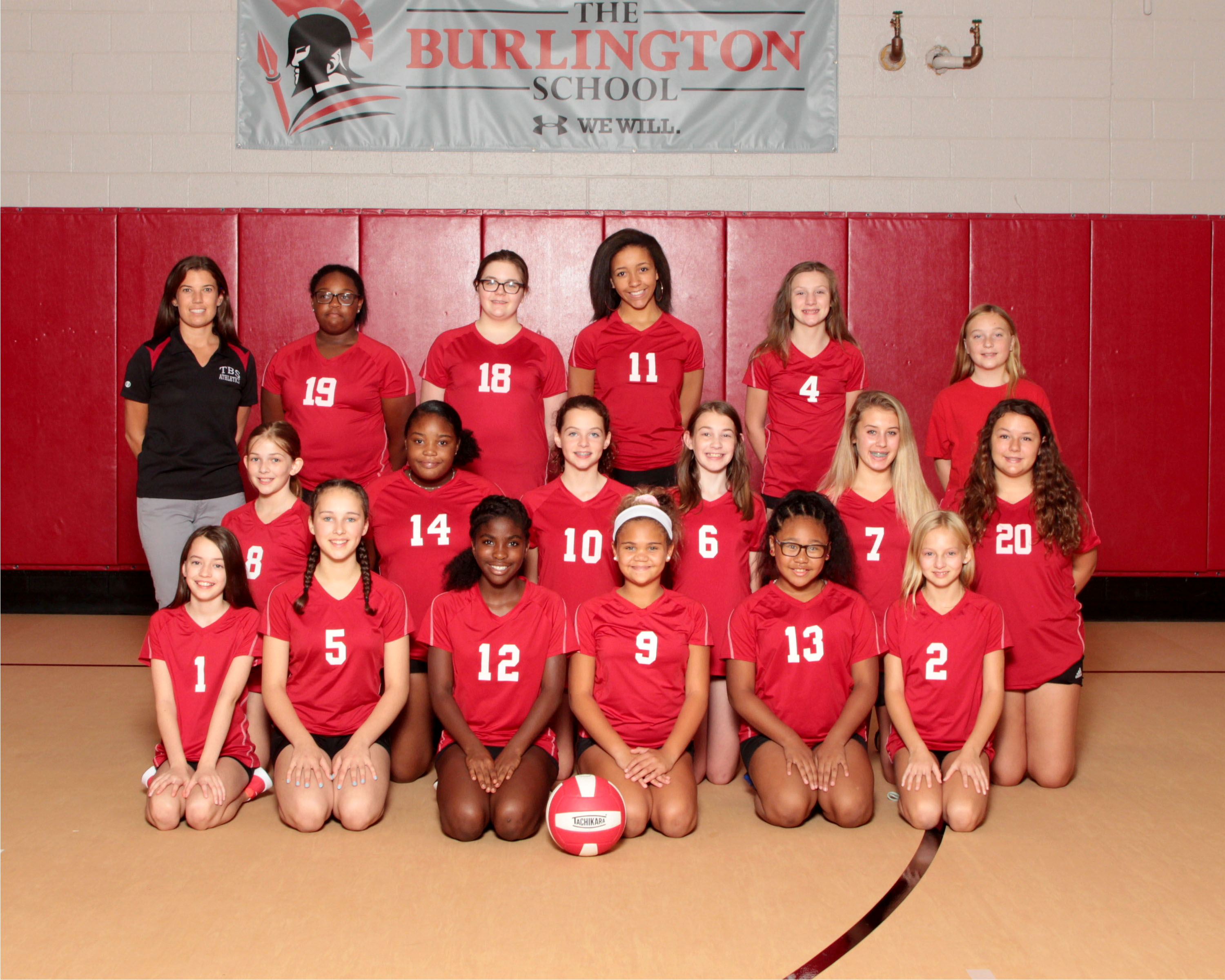 2019 Middle School Volleyball Team